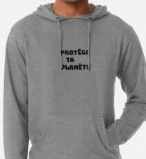 Protect your planet Lightweight Hoodie