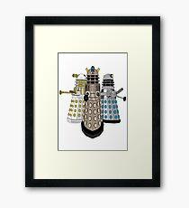 Evolution Of The Daleks Framed Print