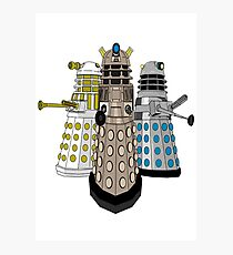 Evolution Of The Daleks Photographic Print