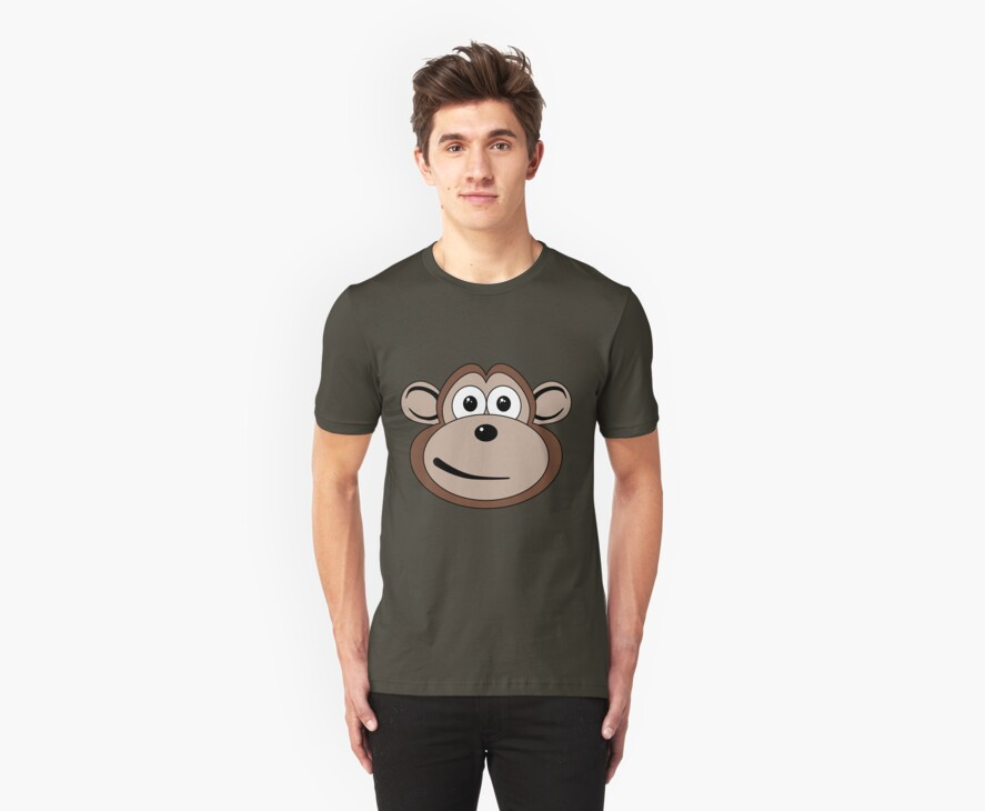 Cartoon Monkey Face by mdkgraphics
