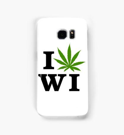 I Love Wisconsin Marijuana Cannabis Weed  Samsung Galaxy Case/Skin