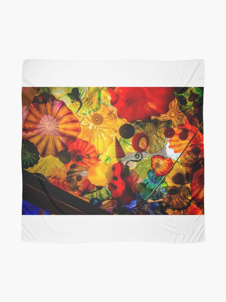 Alternate view of Chihuly Glass Garden Scarf
