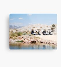 Desert Golf Metal Print