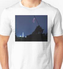 raising the US flag Unisex T-Shirt