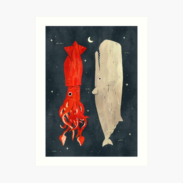 Squids and Whales Art Print