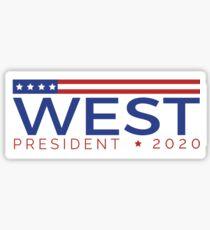 West for President Sticker