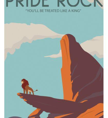 Pride Rock Poster Sticker