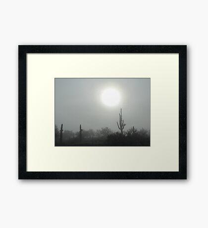 Fog in the Desert Framed Print