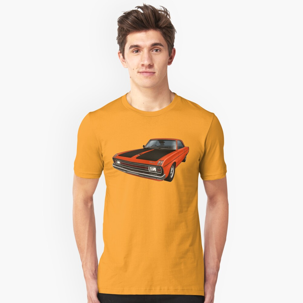 Chrysler Valiant VG Pacer Coupe - Hemi Orange Unisex T-Shirt Front