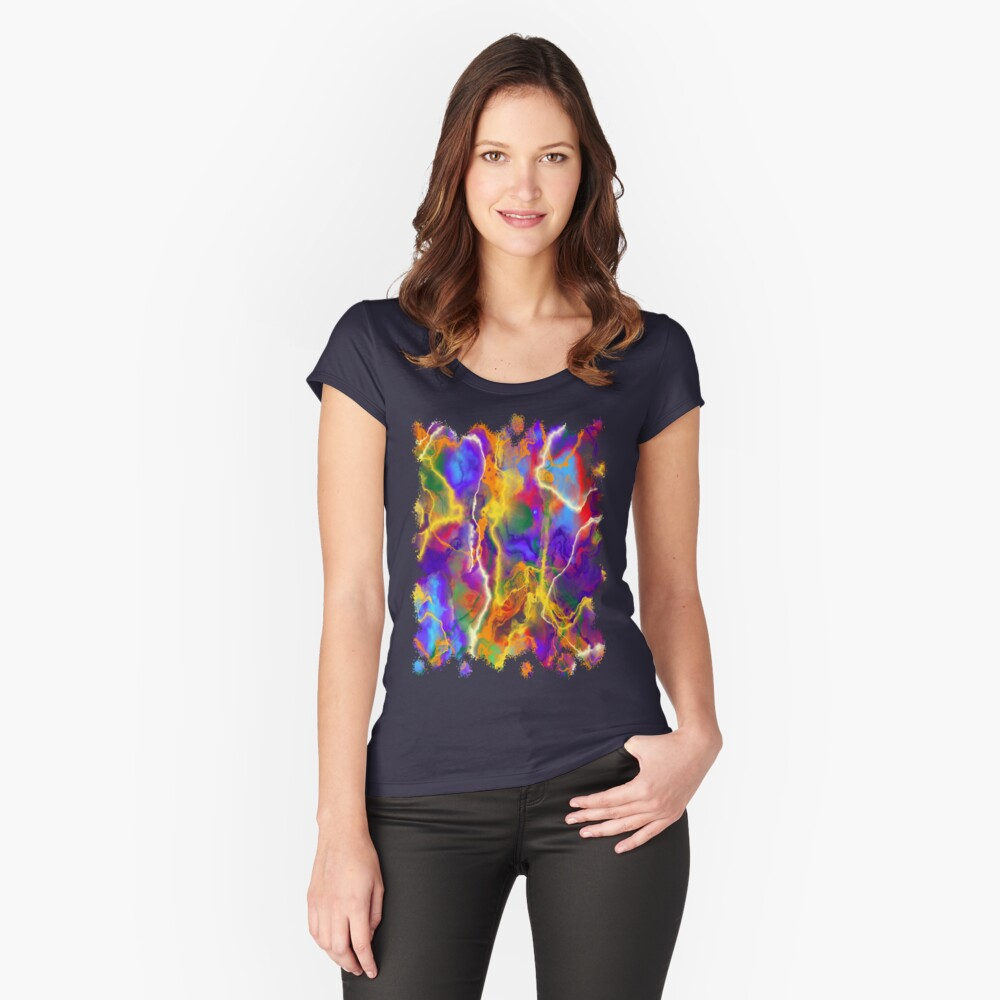 Splashes 007 Women's Fitted Scoop T-Shirt Front