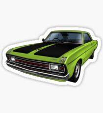 Chrysler Valiant VG Pacer Coupe - Green Go Sticker