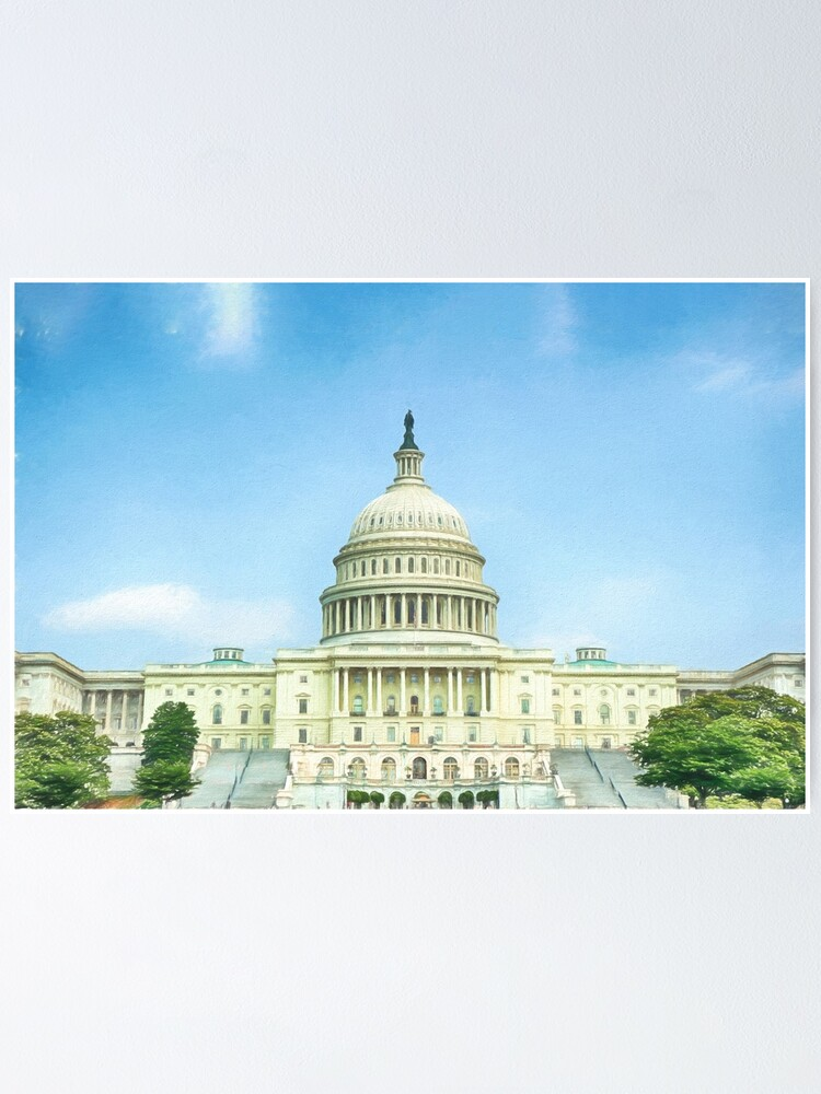 Alternate view of Capitol Idea  (digital painting) Poster