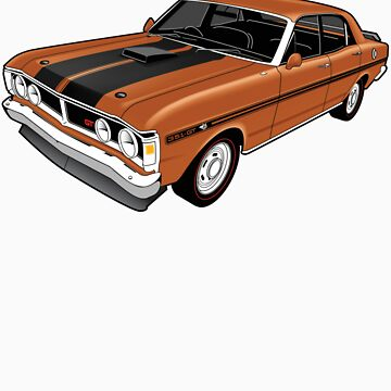 Ford Falcon XY GT - Nugget Gold by tshirtgarage