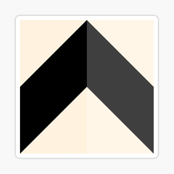 Geometric Pattern: Chevron: Light/Black/Cream Sticker
