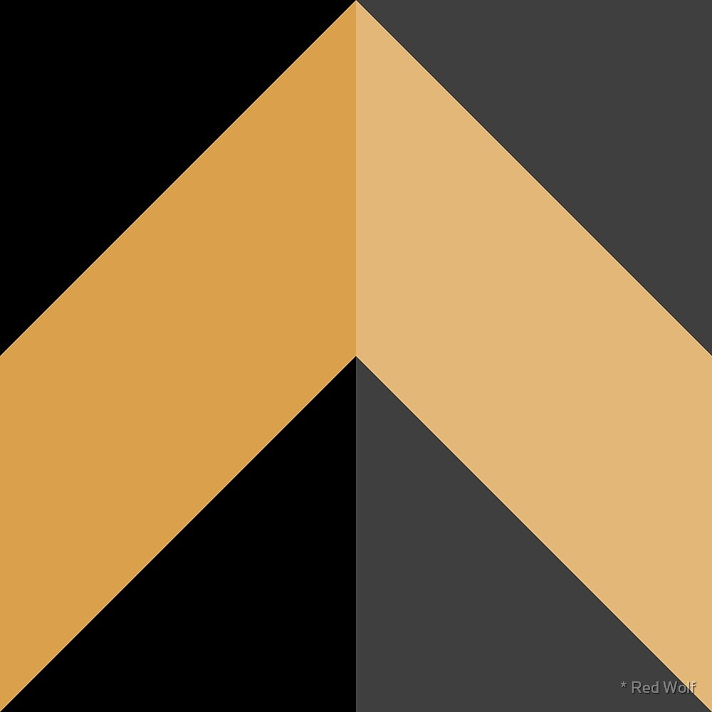 Geometric Pattern: Chevron: Light/Gold/Black by * Red Wolf