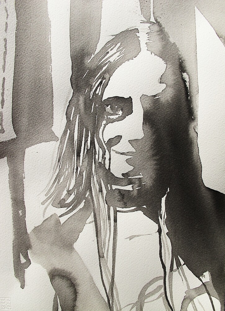 portrait of an unknown girl 3  by donna malone