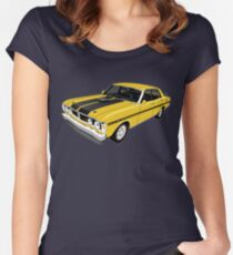 Ford Falcon XY GT - Yellow Women's Fitted Scoop T-Shirt