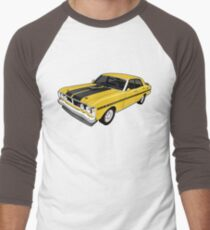 Ford Falcon XY GT - Yellow Men's Baseball ¾ T-Shirt