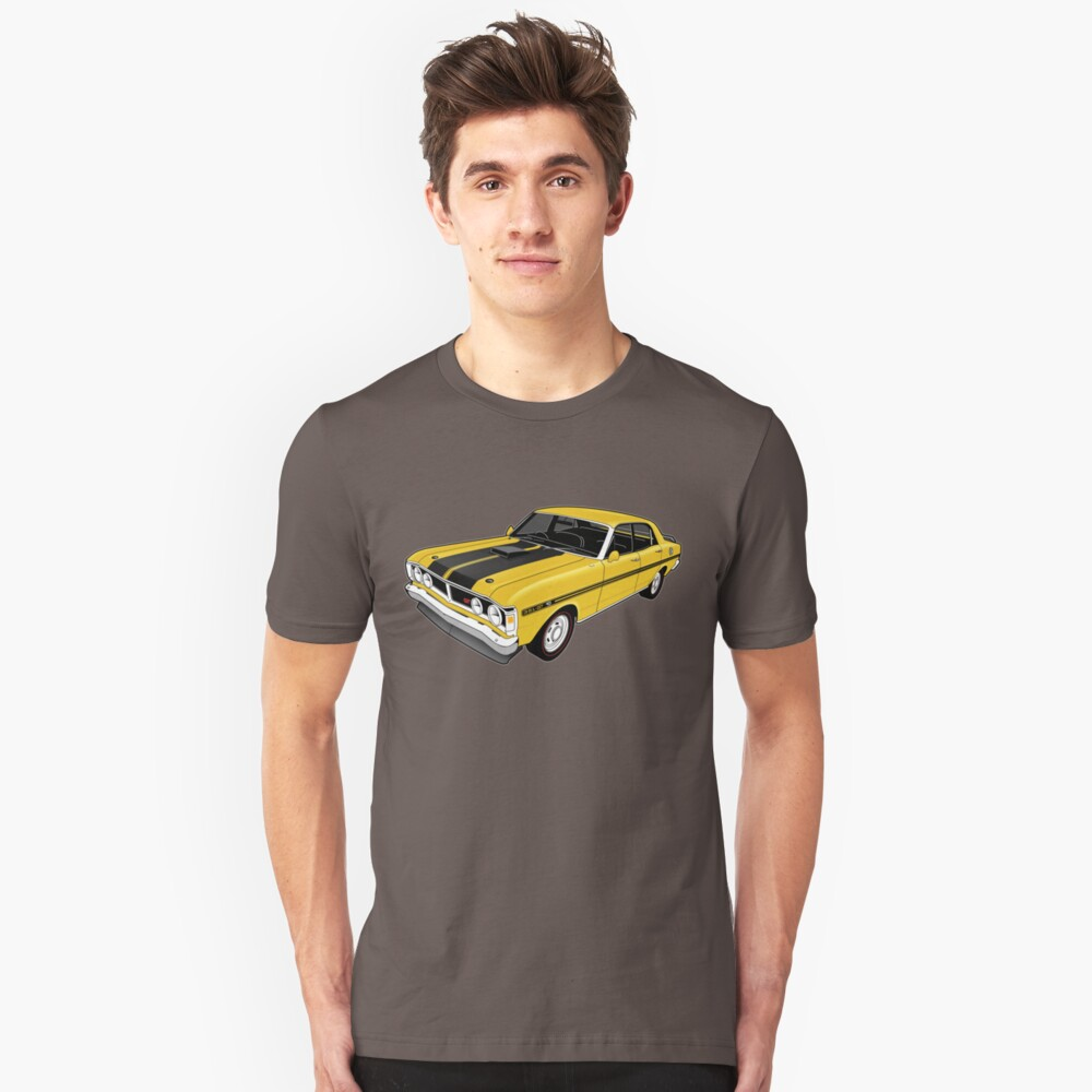 Ford Falcon XY GT - Yellow Unisex T-Shirt Front
