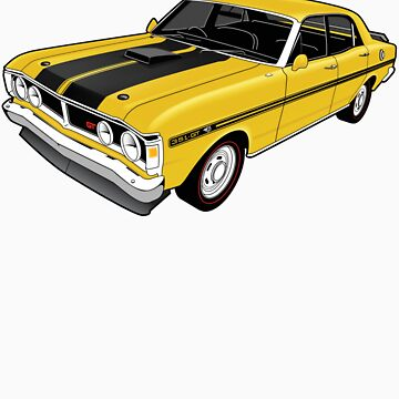 Ford Falcon XY GT - Yellow by tshirtgarage