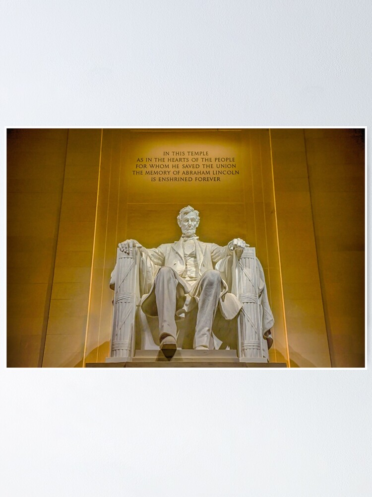 Alternate view of Abraham Lincoln Memorial Poster