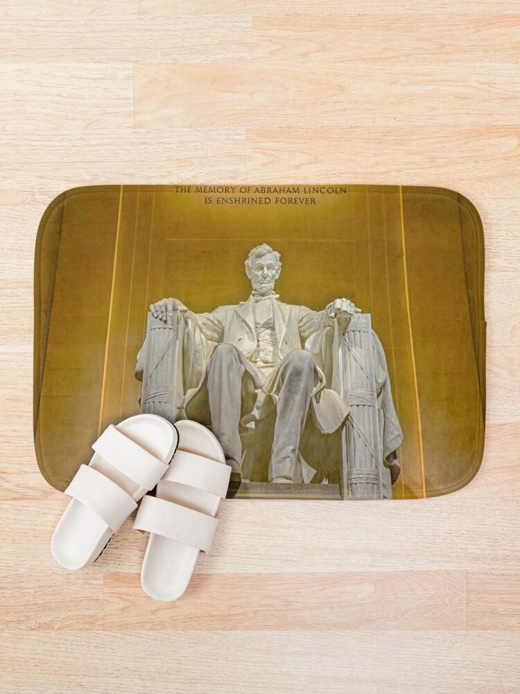 Alternate view of Abraham Lincoln Memorial Bath Mat