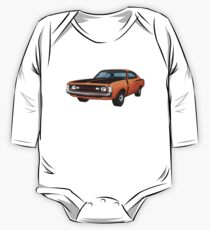 Chrysler Valiant VH Charger - Orange One Piece - Long Sleeve