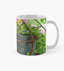 Vintage Wheel Garden Scene - Digital Oil  Mug