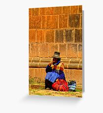 Stone colors Greeting Card