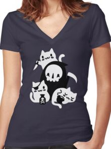 Deaths Little Helpers Women's Fitted V-Neck T-Shirt