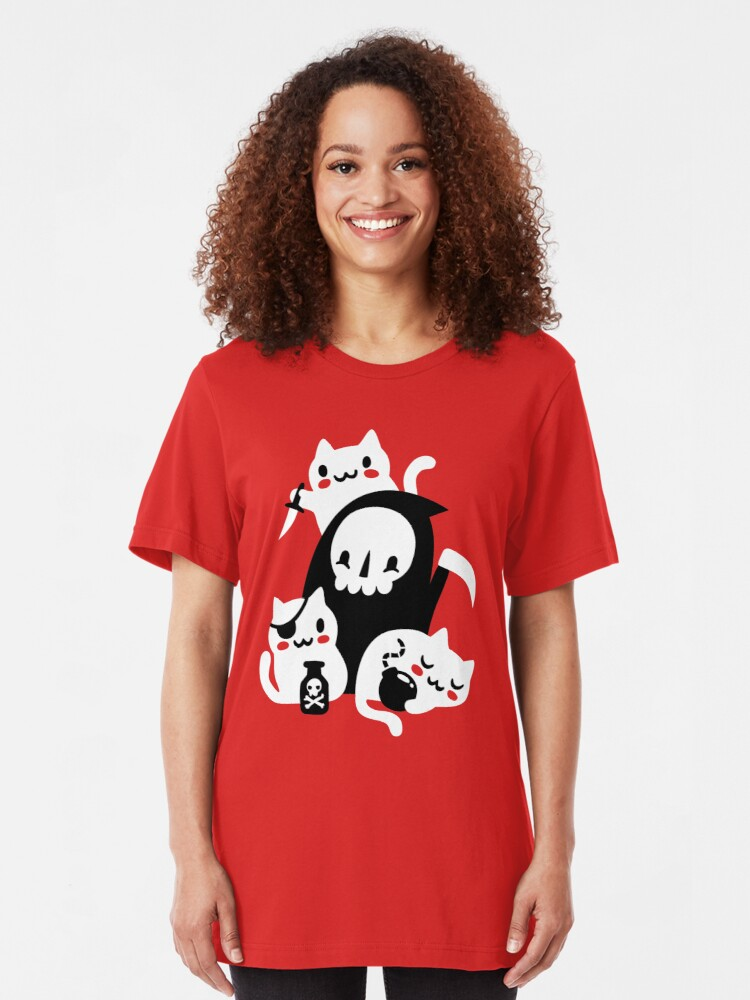 Alternate view of Deaths Little Helpers Slim Fit T-Shirt