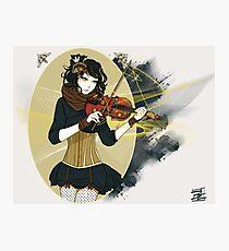 Violin Enamor Photographic Print