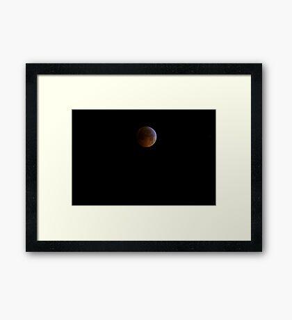 Full! Lunar Eclipse on the Winter Solstice - 2010 Framed Print