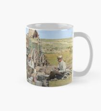 Texas cowboys in 1900 — a chuckwagon lunch during a cattle roundup Classic Mug