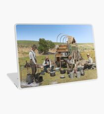 Texas cowboys in 1900 — a chuckwagon lunch during a cattle roundup Laptop Skin