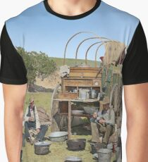 Texas cowboys in 1900 — a chuckwagon lunch during a cattle roundup Graphic T-Shirt