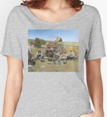 Texas cowboys in 1900 — a chuckwagon lunch during a cattle roundup Relaxed Fit T-Shirt