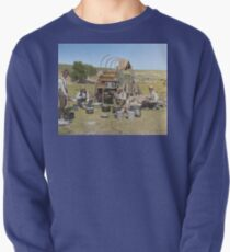 Texas cowboys in 1900 — a chuckwagon lunch during a cattle roundup Pullover Sweatshirt