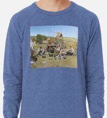 Texas cowboys in 1900 — a chuckwagon lunch during a cattle roundup Lightweight Sweatshirt