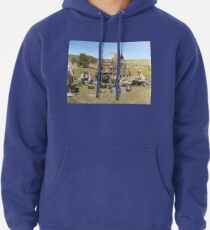 Texas cowboys in 1900 — a chuckwagon lunch during a cattle roundup Pullover Hoodie