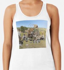 Texas cowboys in 1900 — a chuckwagon lunch during a cattle roundup Racerback Tank Top