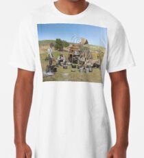Texas cowboys in 1900 — a chuckwagon lunch during a cattle roundup Long T-Shirt