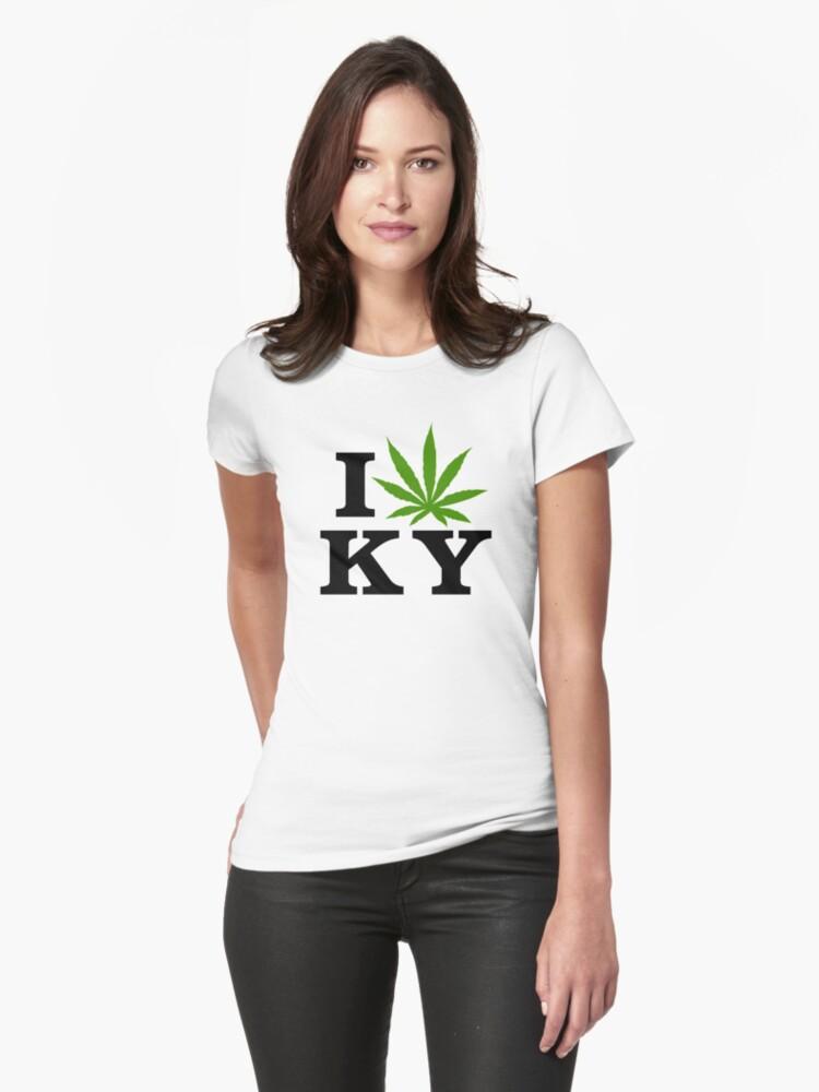 I Love Kentucky Marijuana Cannabis Weed by MarijuanaTshirt