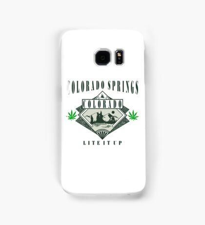"Marijuana Colorado Springs ""Lite It Up"" Samsung Galaxy Case/Skin"
