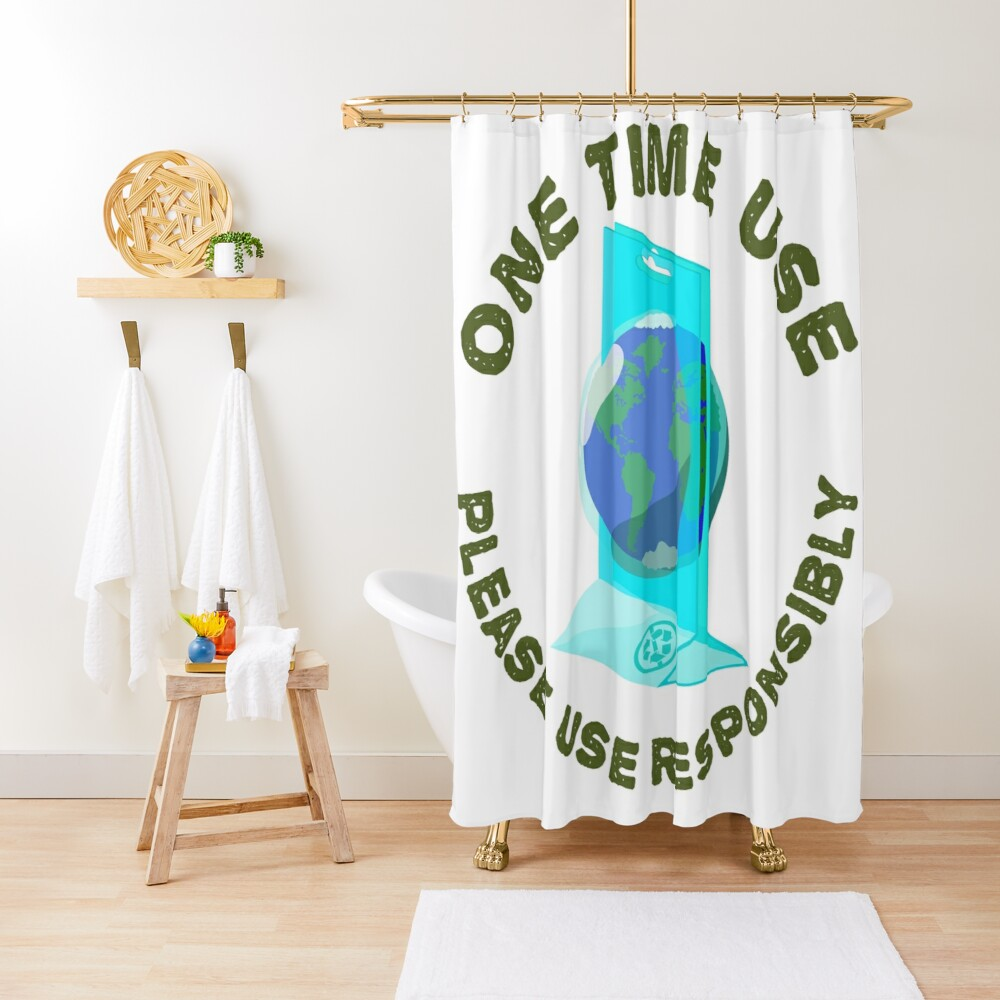 One Time Use Shower Curtain