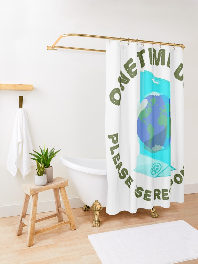Alternate view of One Time Use Shower Curtain