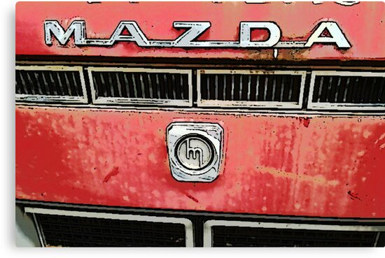 The Mazda Red Truck by Kristen McLachlan