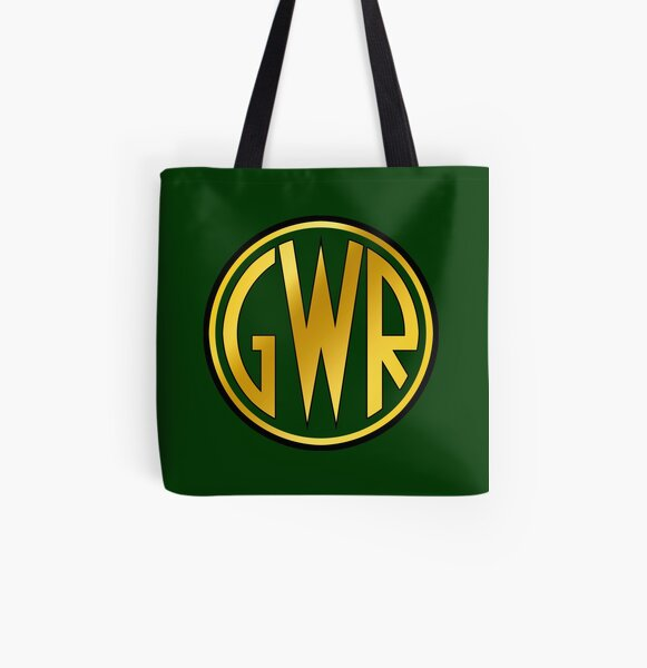 GWR Roundel or Shirt Button (1934- 1942) All Over Print Tote Bag