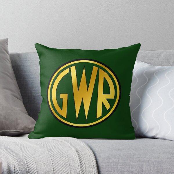 GWR Roundel or Shirt Button (1934- 1942) Throw Pillow