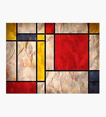 Mondrian Inspired Photographic Print